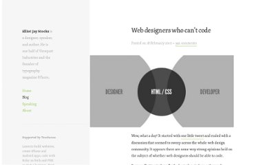 http://elliotjaystocks.com/blog/web-designers-who-cant-code/