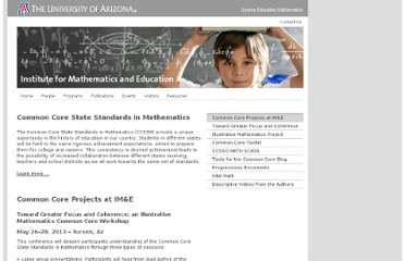 http://math.arizona.edu/~ime/commoncore/