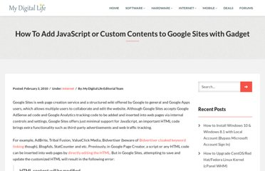 http://www.mydigitallife.info/how-to-add-javascript-or-custom-contents-to-google-sites-with-gadget/
