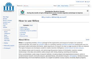 http://en.wikiversity.org/wiki/How_to_use_NVivo