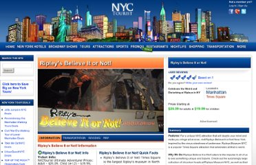 http://www.nyctourist.com/ripleys-believe-it-or-not