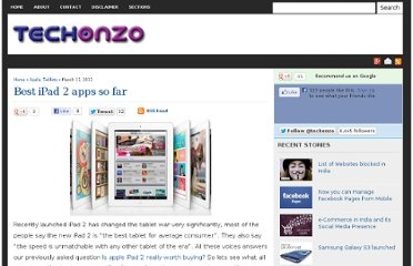 http://www.techonzo.com/2011/03/best-ipad-2-apps-so-far/