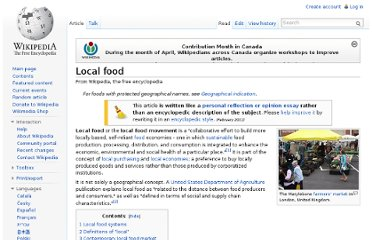 http://en.wikipedia.org/wiki/Local_food