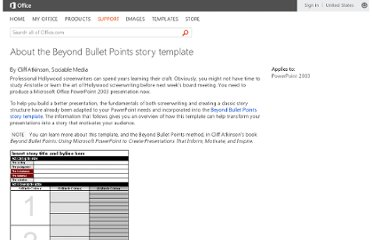 http://office.microsoft.com/en-us/powerpoint-help/about-the-beyond-bullet-points-story-template-HA001188012.aspx