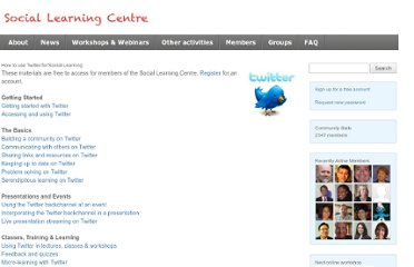 http://sociallearningcentre.co.uk/activities/how-to-use-twitter-for-social-learning/