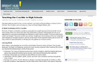 http://www.brighthubeducation.com/high-school-english-lessons/20750-teaching-the-crucible/