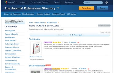 http://extensions.joomla.org/extensions/news-display/articles-display/news-tickers-a-scrollers