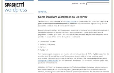 http://www.spaghettiwordpress.com/2008/10/come-installare-wordpress-su-un-server/