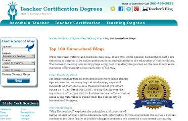 http://www.teachercertificationdegrees.com/top-blogs/homeschool/