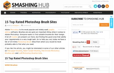 http://smashinghub.com/15-top-rated-photoshop-brush-sites.htm
