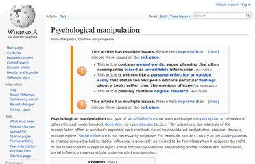 http://en.wikipedia.org/wiki/Psychological_manipulation