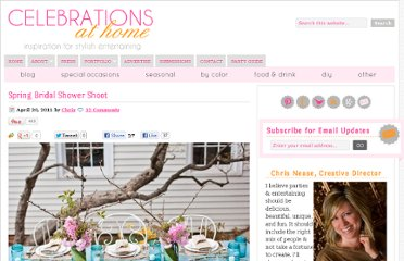 http://celebrationsathomeblog.com/2011/04/spring-bridal-shower-shoot.html