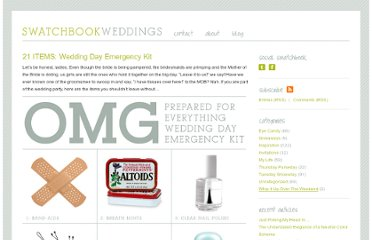 http://swatchbookweddings.com/21-items-wedding-day-emergency-kit
