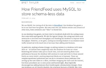 http://backchannel.org/blog/friendfeed-schemaless-mysql