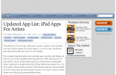 http://appadvice.com/appnn/2011/05/updated-app-list-ipad-apps-artists