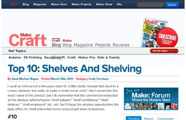 http://blog.makezine.com/2011/03/10/top-10-shelves-and-shelving/