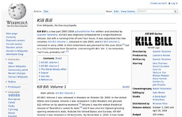 http://en.wikipedia.org/wiki/Kill_Bill