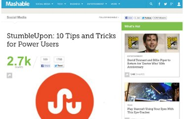 http://mashable.com/2012/01/22/stumbleupon-tips/