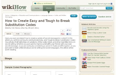 http://www.wikihow.com/Create-Easy-and-Tough-to-Break-Substitution-Codes