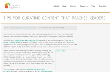 http://insightsandingenuity.com/tips-for-curating-content-that-reaches-readers/