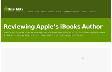 http://www.boxoftricks.net/2012/01/reviewing-apples-ibooks-author/