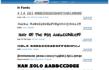 http://cooltext.com/Fonts-H