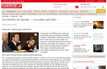 http://www.ladepeche.fr/article/2012/01/22/1266580-accidentes-du-travail-les-plus-mal-lotis.html