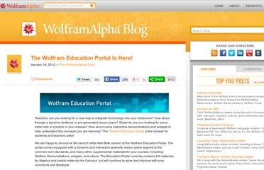 http://blog.wolframalpha.com/2012/01/18/the-wolfram-education-portal-is-here/
