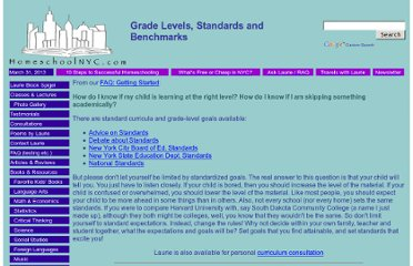 http://homeschoolnyc.com/resources/standards.html