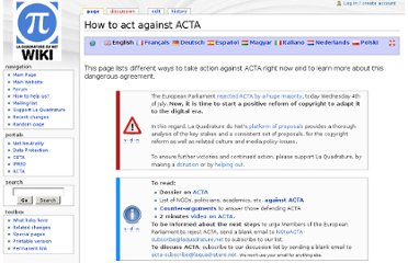 http://www.laquadrature.net/wiki/How_to_act_against_ACTA