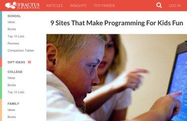 http://www.fractuslearning.com/2011/12/14/programming-for-kids/