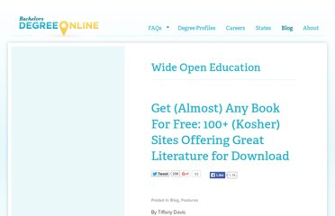 http://www.bachelorsdegreeonline.com/blog/2009/get-almost-any-book-for-free-100-kosher-sites-offering-great-literature-for-download/