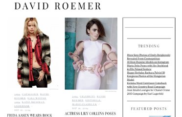 http://fashiongonerogue.com/photographer/david-roemer/