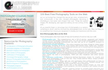 http://www.photography-colleges.org/100-best-free-photography-tools-on-the-web/