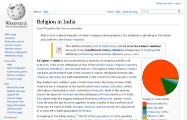 http://en.wikipedia.org/wiki/Religion_in_India