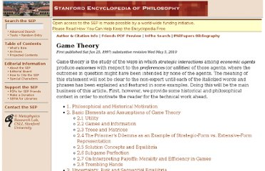http://plato.stanford.edu/entries/game-theory/