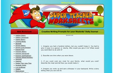 http://www.superteacherworksheets.com/journal-prompts.html