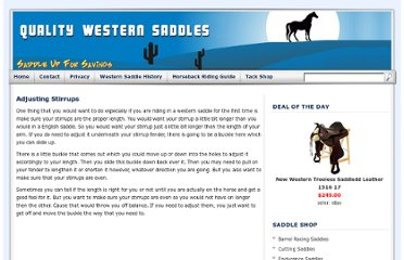 http://www.qualitywesternsaddles.com/adjusting-stirrups