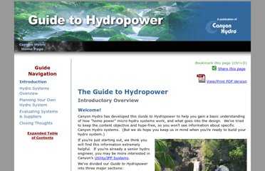 http://www.canyonhydro.com/guide/index.html