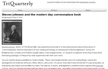 http://m.triquarterly.org/blog/steven-johnson-and-modern-day-commonplace-book