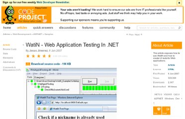 http://www.codeproject.com/Articles/17064/WatiN-Web-Application-Testing-In-NET