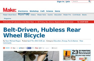 http://blog.makezine.com/2011/04/07/belt-driven-hubless-rear-wheel-bicycle/