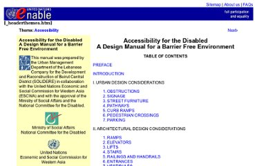 http://www.un.org/esa/socdev/enable/designm/index.html