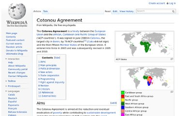 http://en.wikipedia.org/wiki/Cotonou_Agreement