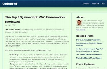 http://codebrief.com/2012/01/the-top-10-javascript-mvc-frameworks-reviewed