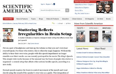 http://www.scientificamerican.com/article.cfm?id=the-stuttering-brain
