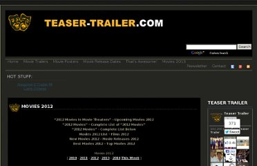 http://teaser-trailer.com/movies-2012.html