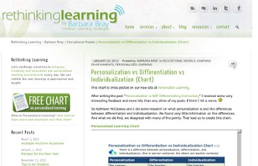 http://barbarabray.net/2012/01/22/personalization-vs-differentiation-vs-individualization-chart/