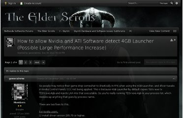 http://forums.bethsoft.com/topic/1304819-how-to-allow-nvidia-and-ati-software-detect-4gb-launcher-possible-large-performance-increase/
