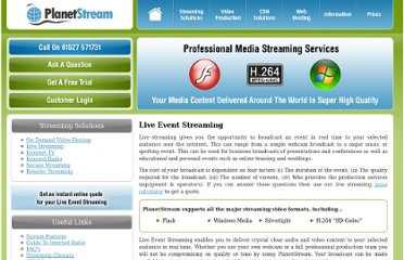 http://www.planetstream.net/streaming-solutions/live-streaming.html#.Tn3FfKN5mSM